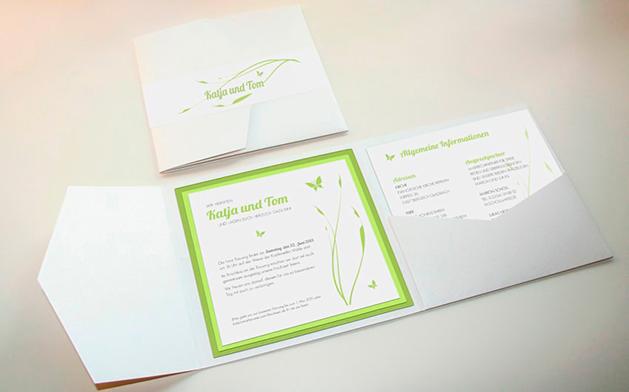 Diseño de invitaciones de boda para primavera