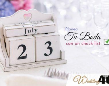 Planea tu boda con el checklist de preparativos de Wedding4u