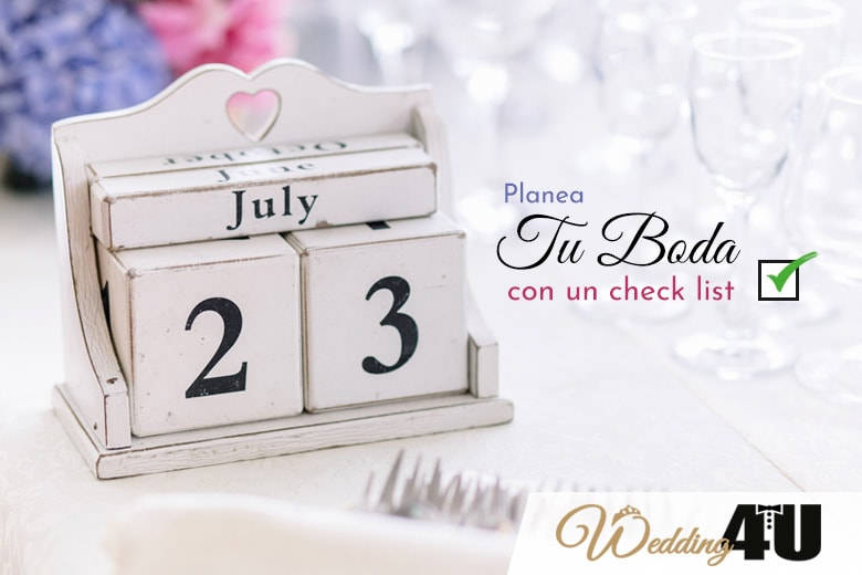 Planea tu boda con el checklist de preparativos de Wedding4u
